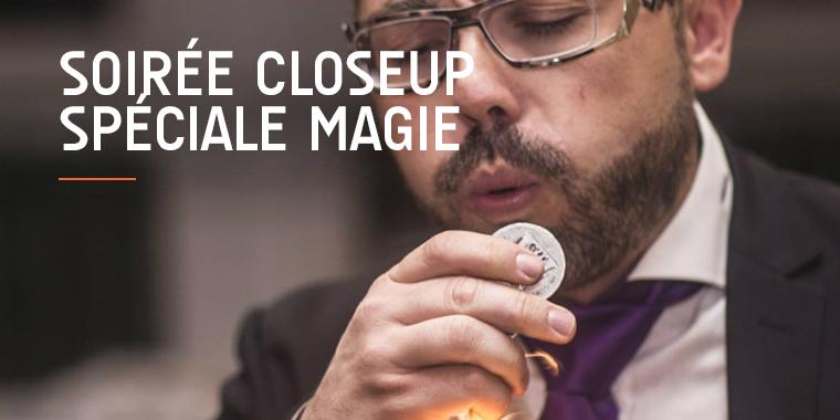 Soirée closeup spéciale magie